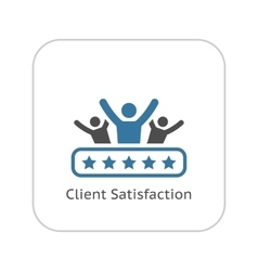 Client satisfaction icon flat design vector