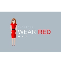 National wear red day vector