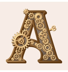 Mechanical alphabet vector
