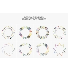 Abstract colorful dot shapes vector