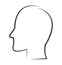 Head profile outline icon vector