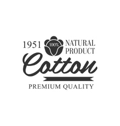 Cotton black and white product logo design vector