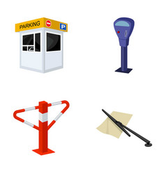 a parking lot a parking meter a check for vector image vector image