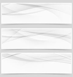 Abstract swoosh modern wave layout card set vector image vector image