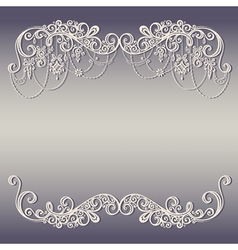 Beautiful holiday frame with christmas decorations vector