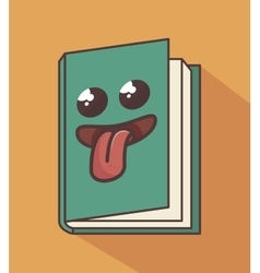 Book character isolated icon design vector