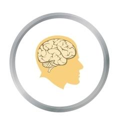 Brain icon cartoon single education icon from the vector