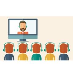 Businessman giving a presentation vector image vector image