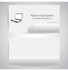 Calling card of computer programmer vector image vector image