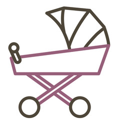 cart baby isolated icon vector image