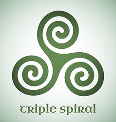 Celtic triple spiral vector