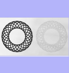 celtic woven wreaths vector image vector image