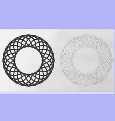 Celtic woven wreaths vector