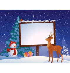 Christmas placard vector image vector image