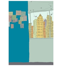 Creative Interior Cityscape vector image vector image