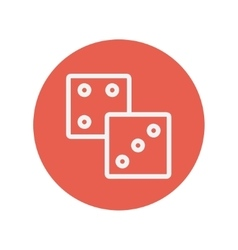 Dices thin line icon vector