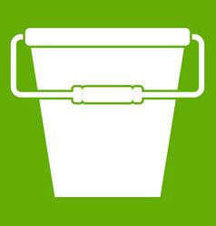 Empty bucket icon green vector