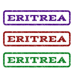 eritrea watermark stamp vector image