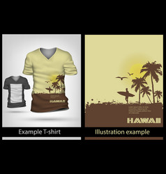 example on T-shirt vector image vector image
