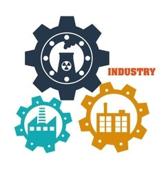 Factoryindustry and business design vector image vector image