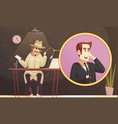 faux phone detective composition vector image