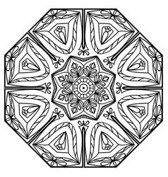 flower mandala vintage decorative elements vector image
