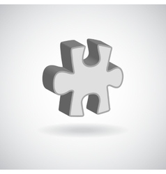Glossy puzzle web icon design element grey vector