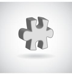 Glossy puzzle web icon design element grey vector
