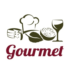 Gourmet Cuisine vector image vector image