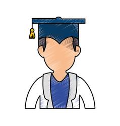 Graduation hat symbol vector