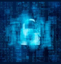 Hacked firewall concept broken security system vector