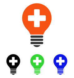 Healh care bulb flat icon vector