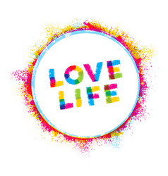 love life creative rough inspiration vector image vector image