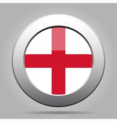 Metal button with flag of england vector