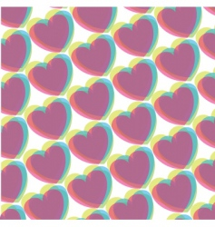 pop art hearts vector image vector image