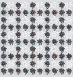 seamless pattern with flowers on gray vector image vector image
