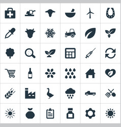 Set of simple agriculture vector