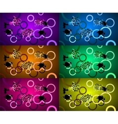 sets of abstract backgrounds vector image vector image