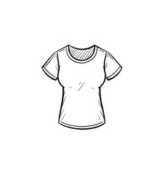 Tight t-shirt hand drawn sketch icon vector