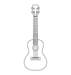 Ukulele icon outline vector image