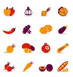 vegetables icons vector image vector image