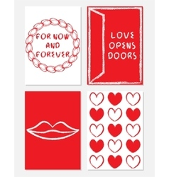 Collection of a4 size template on love theme with vector