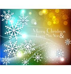 colored christmas background with snowflakes vector image