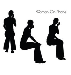 Woman on phone vector