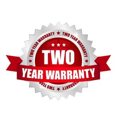 2 year warranty button vector