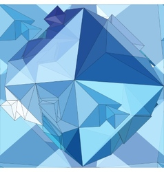 Crystal seamless 3d geometric background vector