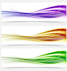 Vivid speed swoosh abstract line banner footer vector
