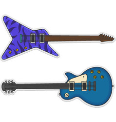Two beautiful guitars vector