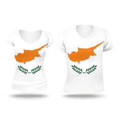 Flag shirt design of cyprus vector