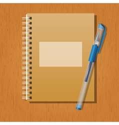 Note and a pen vector